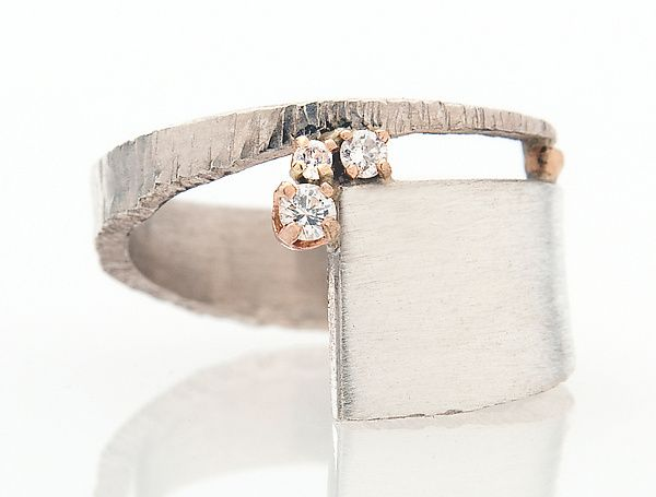 Sparkle Ring by Dagmara Costello: Silver and Stone Ring available at www.artfulhome.com