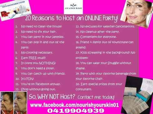 Why not Host an online party?  You can get products for free for being a host, ,plus up to 30% off personal purchases. A party can run for as long as you like.. All you have to do is invite your friends into the group. ...Easy