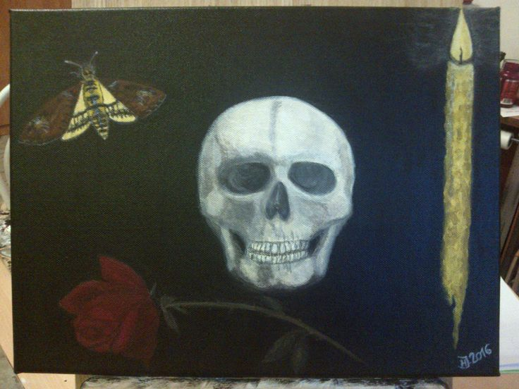 """Zátiší..."" , Skull, Mystic...Acrylic"