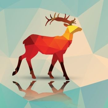 Geometric polygonal deer pattern design