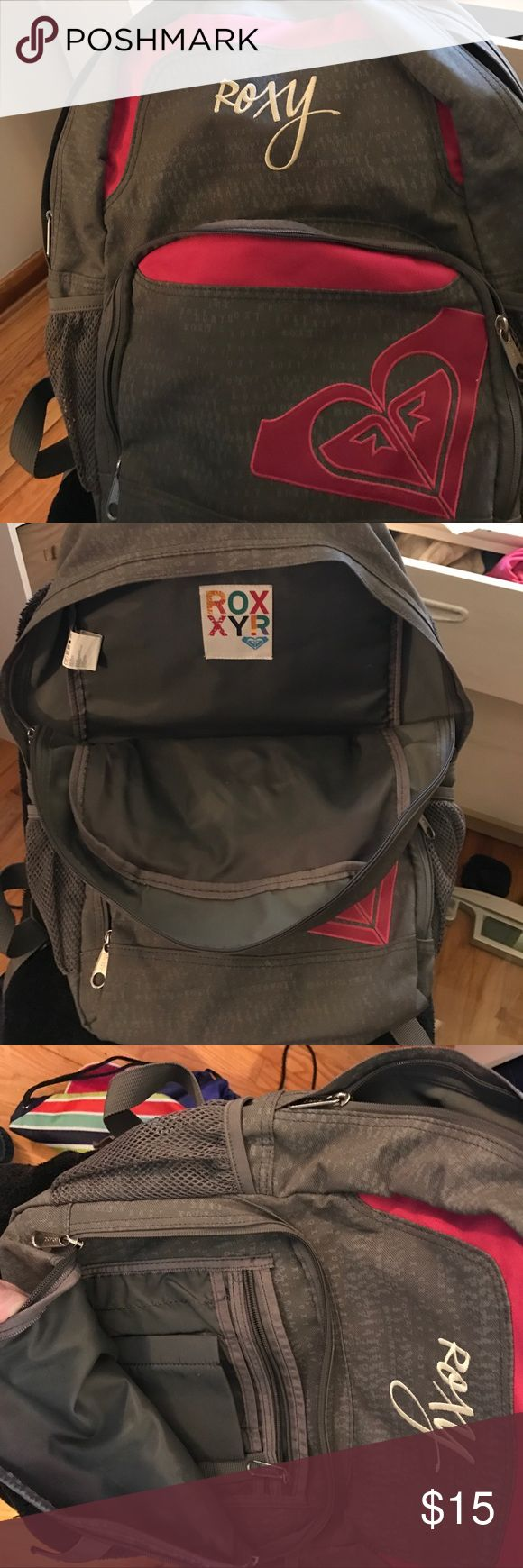 Roxy back pack Pink and gray roxy backpack Roxy Bags
