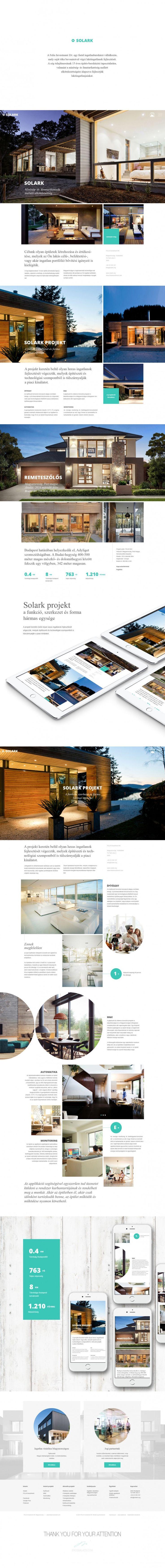 Solark. Luxury home near to Budapest, Hungary. Responsive webdesign concept.