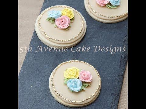 Royal Icing Rose Garden Sugar Cookie