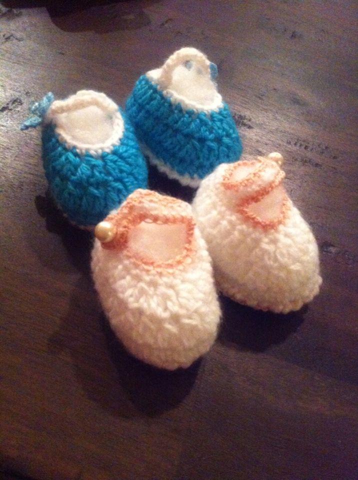 Mum's crocheted slippers!