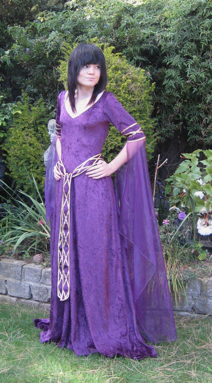 celtic weddings wiccan wedding dress Eve a Celtic Elvish Medieval Pagan Wedding Gown with Applique Decoration