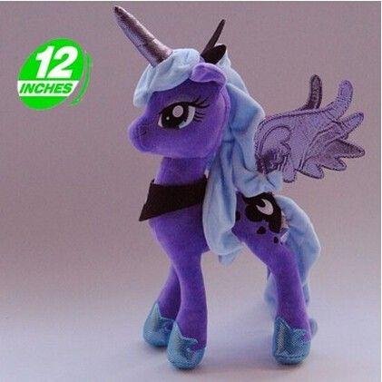 Princess Luna Nightmare Night Cartoon Pets Plush Horse Unicorn Kids Toys Christmas Gift $18
