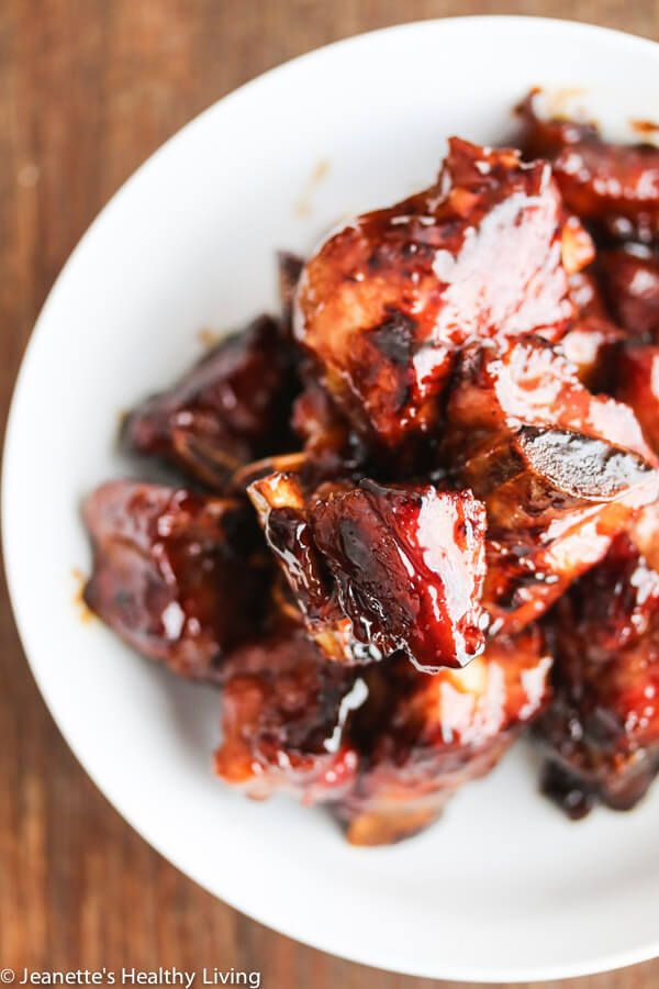 My Dad's Chinese Sticky Honey Spareribs Recipe {Progressive Eats} - Jeanette's Healthy Living