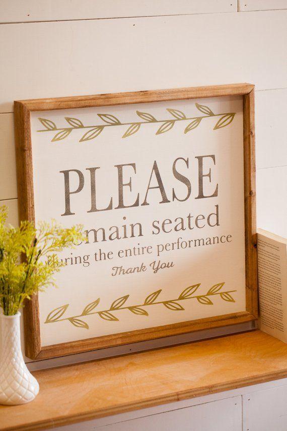 Bathroom Sign Please Remain Seated Bathroom Decor