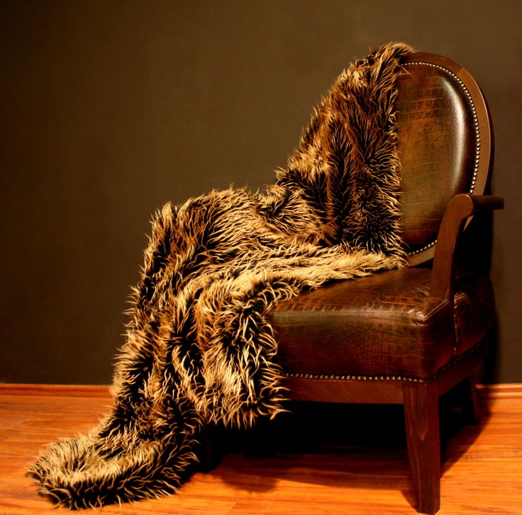 Eco fur! On our Leather Armchair!