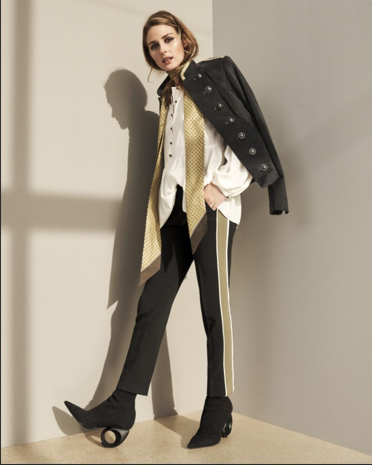"""After months of anticipation, Olivia's """"See Now, Buy Now"""" collection with Banana Republic is finally here! Ready for you to shop until you drop, both in-store or at the very least until your fingers get tired from adding the pieces to your online cart, the Fall 2017 collection is the perfect amalgam of classic BR style with Olivia's fashion forward high-street aesthetic. From gold and maroon brocade military jackets + skirts, faux-python trenches and beautifully pleated dresses to sporty…"""