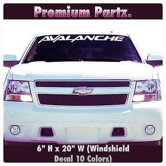 1950 2017 Chevrolet Avalanche Windshield Body Decal Sticker New