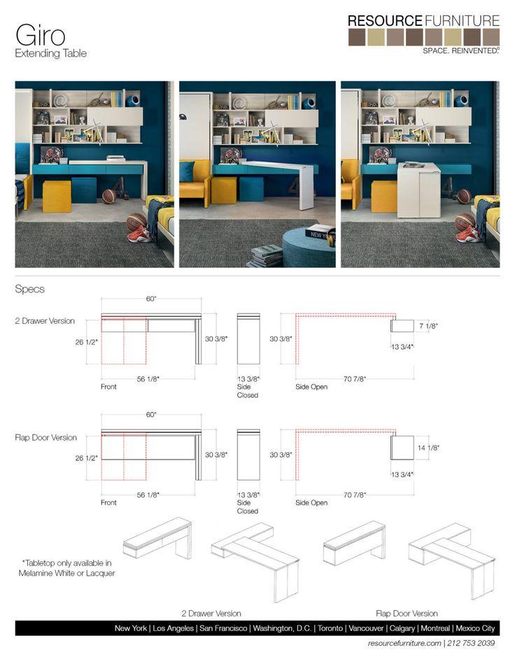 Giro   Resource Furniture   Transforming Tables