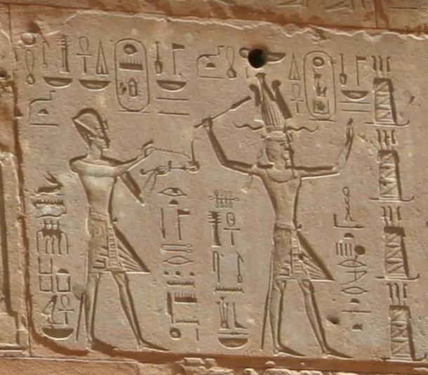 Thutmose III and Hatshepsut, 18th Dynasty. Red Chapel, Karnak.