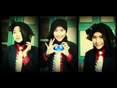 Hi all.... We're glad of having finally shared this formal tutorial.. This is a simple way how to don hijab for working, school and colleges..Yet it also matches to be applied for just hanging around with your friends, of course, by putting the tie off...