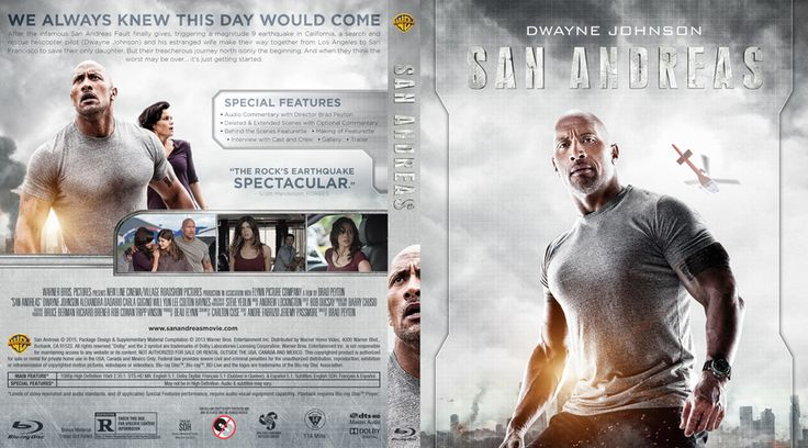 San Andreas Blu-ray Custom Cover