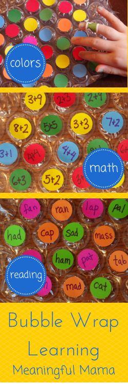 Bubble Wrap Learning - Meaningfulmama.com