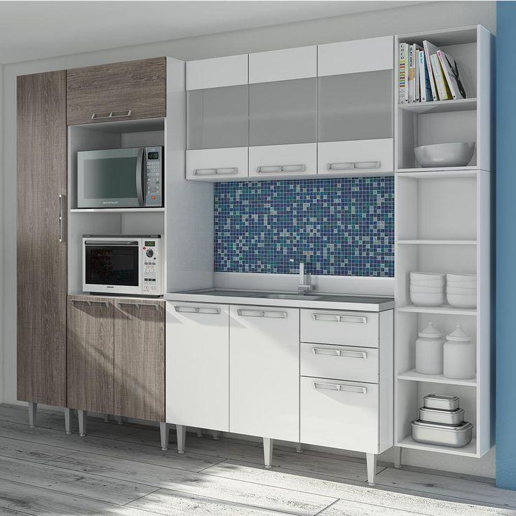Gostou desta Conjunto Cozinha 04 Rústico/Branco P3 - Art In Móveis, confira em: https://www.panoramamoveis.com.br/conjunto-cozinha-04-rustico-branco-p3-art-in-moveis-6611.html