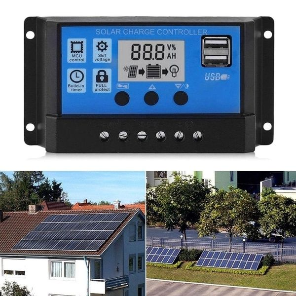 2020 New 12v 24v 5a 10a 40a 50a 100a Mppt Lcd Auto Work Solar Charge Controller Cell Panel Charger Pwm Dual Usb Output Charger Solar Panel Regulator Wish In 2020 Solar Solar Panel Battery Solar