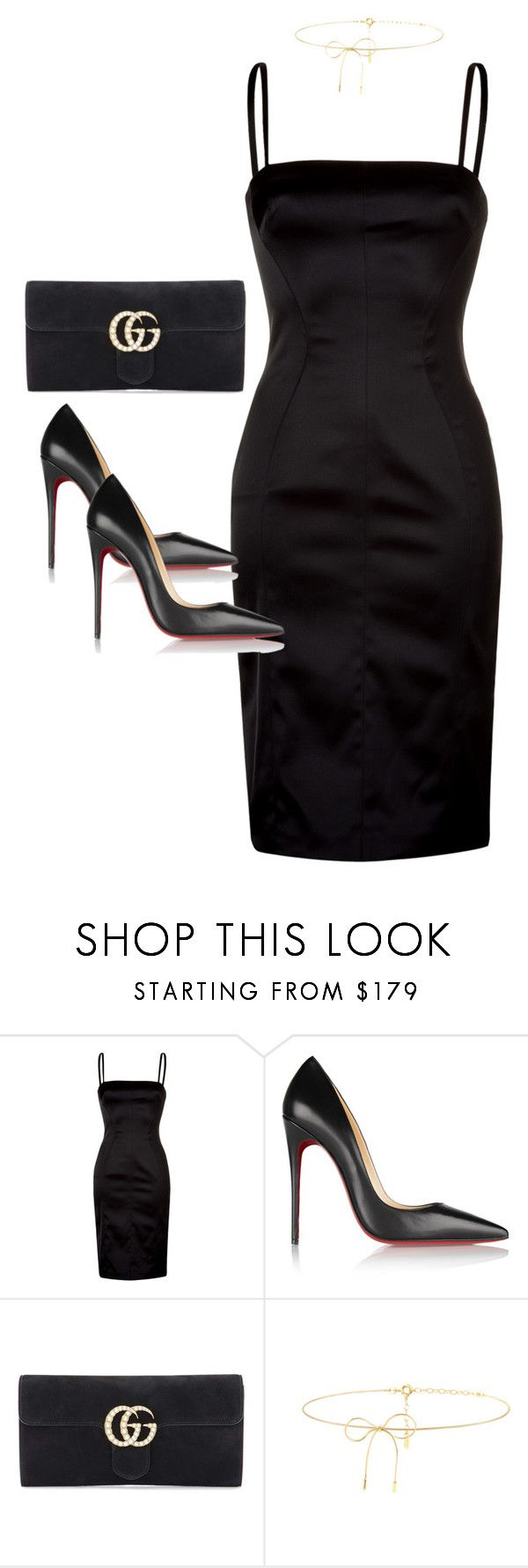 """""""Untitled #4037"""" by dkfashion-658 on Polyvore featuring D&G, Christian Louboutin, Gucci and Lilou"""