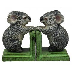 Koala Bookends The native cute and fluffy Australian. We think these Australian Koala bookends would look cute on anyones bookshelf and make a great gift for those who love the land down underCast Ir. Please Click the image for more information.