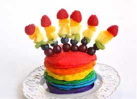 I'm making these for my girl next weekend......Double Rainbow Pancakes
