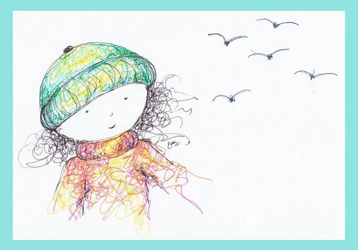 Girl with Birds - Erika Reid Illustrations
