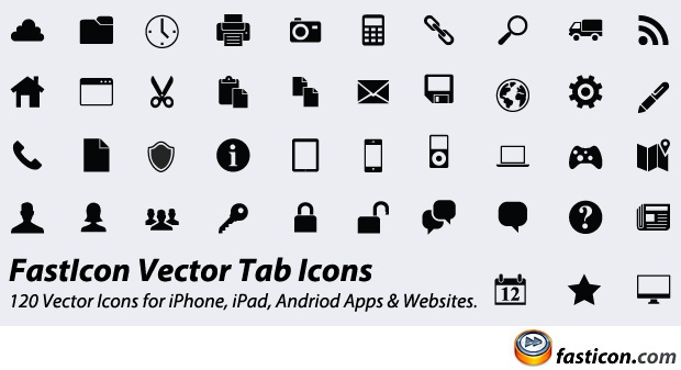 Free: Vector Icons for iPhone, iPad, Andriod Apps & Websites
