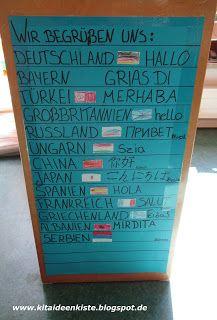 Kita – Ideenkiste! Nicht nur für ErzieherInnen!: Begrüßung aus aller Welt – Dianas Kreativseite