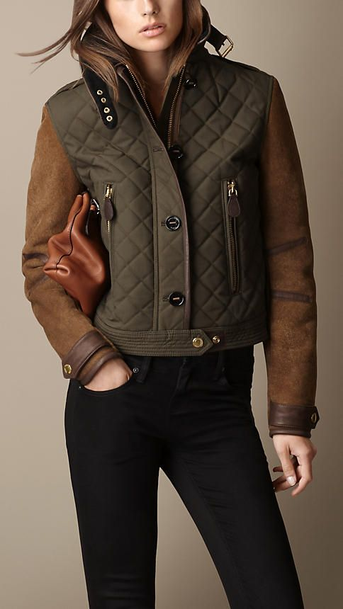 Burberry Waxed Cotton Jacket with Shearling Sleeves. Wear this, and your friends will call you a maven of style. Burberry does it best. http://www.recoram.com
