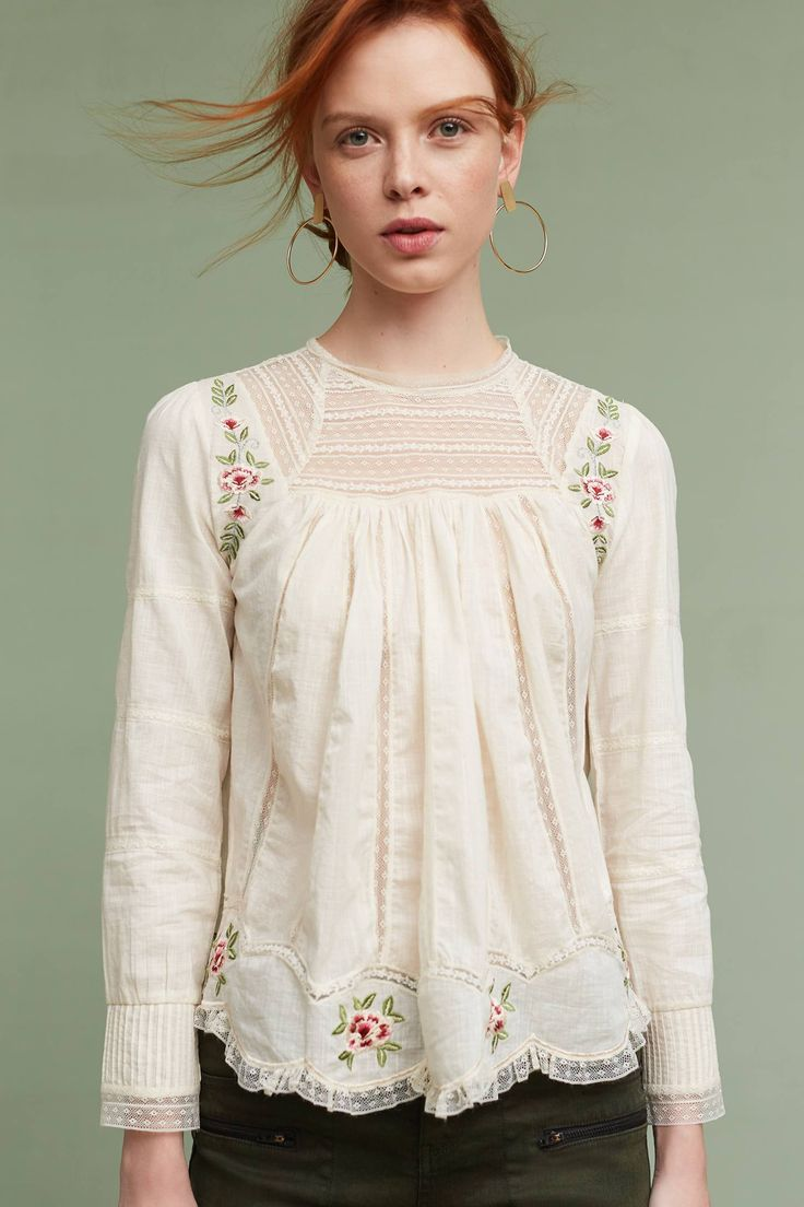 Slide View: 1: Ashlee Embroidered Top