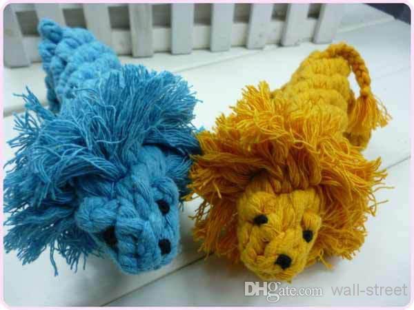 новая мода смешно хлопок cute lion pet собаки кошки игрушки зуба чистить друг pet products rope-Игрушки для