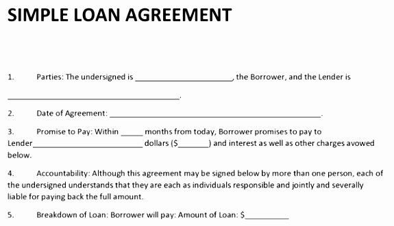 Free Printable Personal Loan Agreement Form Generic Personal