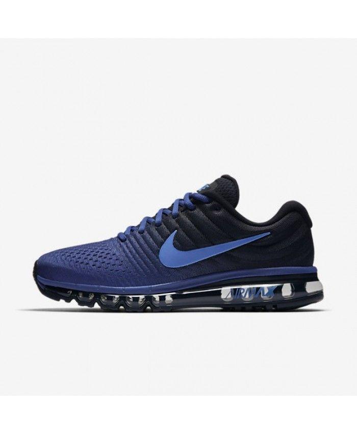Nike Air Max 2017 Mens Deep Royal Blue Black Hyper Cobalt Shoes,Valentine's  Day boys