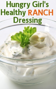 Hungry Girl Lisa Lillien shared her Healthy Ranch Dressing recipe with Dr Oz (and it is high in protein to boot!)