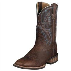 Click Image Above To Buy: Ariat Mens Oiled Rowdy Quickdraw Western Boots