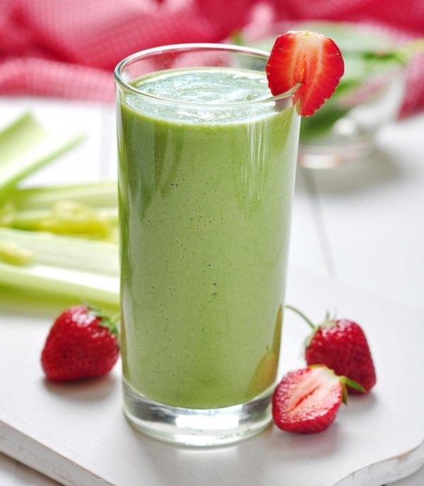 ANTI-INFLAMMATORY - Kale-A Berry Smoothie  Ingredients 1 banana 3 whole strawberries 1 handful kale 1 TB honey 2 ice cubes Sweetened almond milk to the fill line
