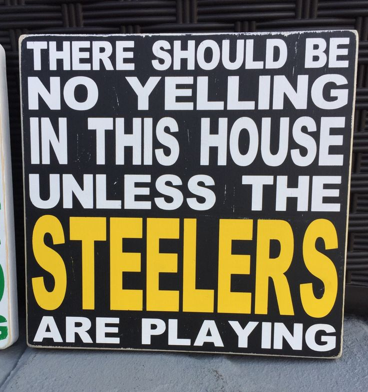 Steelers Fan Sign w/ Distressed/Vintage Look *We Can Do This Sign For Any Team* by ArtsyPallets on Etsy https://www.etsy.com/listing/497988739/steelers-fan-sign-w-distressedvintage