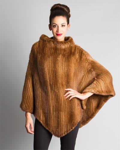 J. Mendel Natural Mink Fur Poncho
