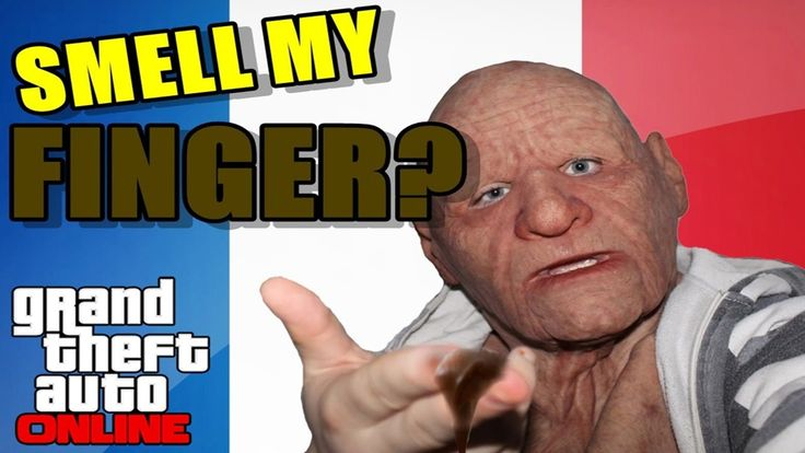 Angry grandpa going mad at french people in grand theft auto v