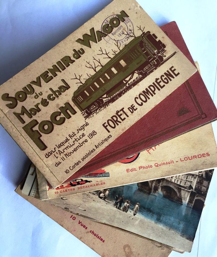Postcards souvenir booklets x 5 * Vintage and Antique French * Monuments…