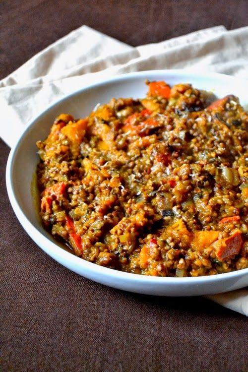 Pohankové risotto s dýní a sušenými houbami