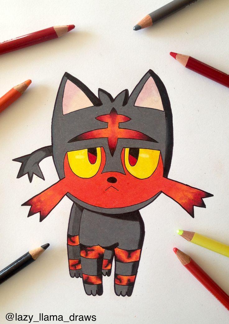 Drawing pokemon Litten