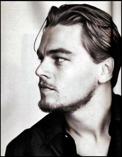 Sexy Leonardo Dicaprio Naked Black  White Photo Profile -8564