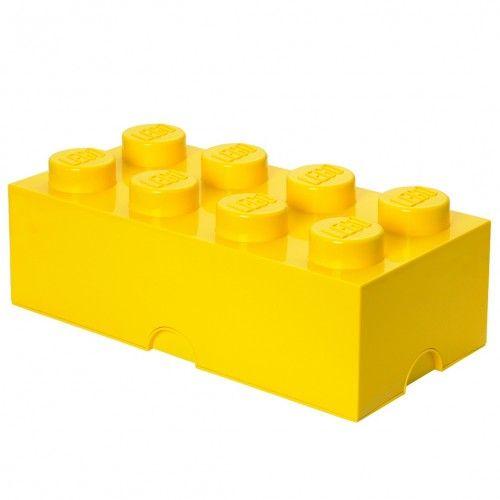 LEGO opbergbox Brick 8 geel 50 x 25 cm