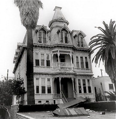 Mitzi's first home in Los Angeles, The Dorchester Boarding House on Bunker Hill