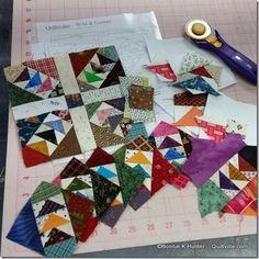 Wild & Goosey quilt blocks--Bonnie Hunter                                                                                                                                                     More