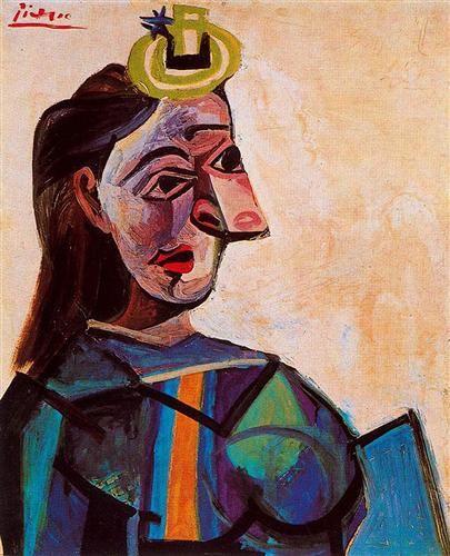 1942 Busto de mujer. Cubismo. Surrealismo | Artist ...