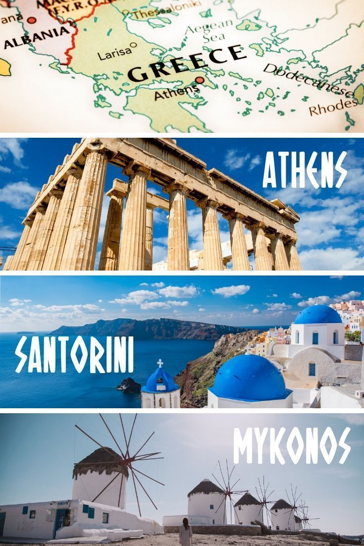 Greece Travel Itinerary A 7 Day Athens Santorini Mykonos Itinerary For First Time Travelers To Greece Enjo Greece Itinerary Greece Travel Santorini Travel