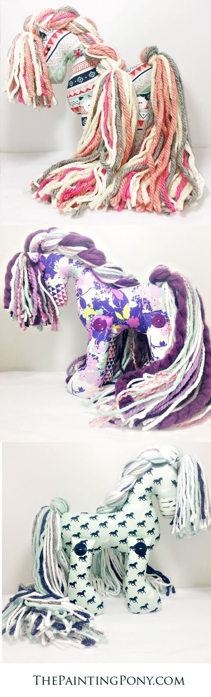CUTE hand-made stuffed ponies for the horse lover. each pony is special and one of a kind limited edition. Any equestrian will LOVE these heirloom gifts that are great for any occasion from a baby's first birthday to graduation and Christmas. These stuffed horses make great keepsakes.