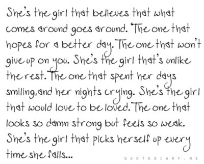 I think we are all that girl!